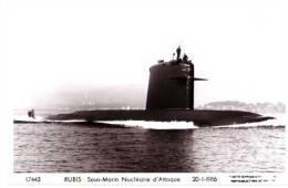 Sous-Marin RUBIS, 1986. Sous-marin Nucléaire D'Attaque. Rade De Toulon. - Submarines