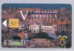 TARJETA TELEFONICA -  5º Centenario MELILLA - Unclassified