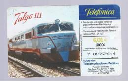 TARJETA TELEFONICA -  Tren TALGO III - Unclassified