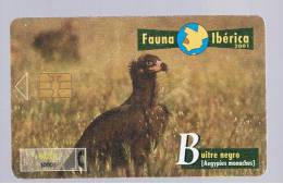 TARJETA TELEFONICA  -  Serie Fauna Iberica - Buitre Negro - Tarjetas Telefónicas