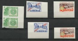 Liberia 1955  Imperf  Proofs 2 Sets  ( Pair, Singles) MNH. - Liberia