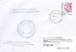 A108 - MISSIONI MILITARI DI PACE ITALIANE - ANTICA BABILONOIA IRAQ - ONU MISSIONS  NATO - TASK FORCE 11° RGT BERSAGLIERI - 2001-10: Storia Postale