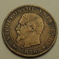 1856 - France - CINQ CENTIMES, NAPOLEON III, (A), Tête Nue, KM 777.1, Gad 152 - Francia