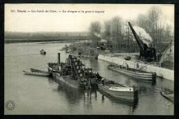 37 - TOURS - La Drague Et La Grue à Vapeur - Les Bords Du Cher - Tours