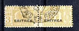 Eritrea 1927-37 Pacchi Sassone Serie 56 N 29 Giallo Bruno Usato - Erythrée