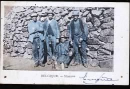 MINEURS BELGES POSTEE DE LA LOUVIERE EN 1904 - La Louvière
