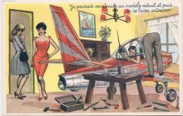 L20B.58 - Carte Humoristique - Thème Bricoleur: Je Pensais Construire... -  Carrière Louis - Photochrom - Carrière, Louis
