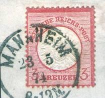 Mannheim Auf 3 Kreuzer Rot Nr. 25 - Pracht - Deutschland