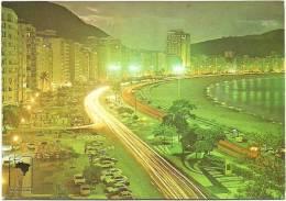 Nº350-267 VISTA NOTURNA - COPACABANA - EDICARD EDITORA CULTURAL LTDA. - Rio De Janeiro