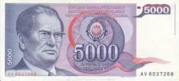 Billet Yougoslavie 5000 Dinara N° 93, Année 1985 VF - Yougoslavie