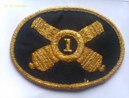 Parche Sombrero De Oficial 1º Regimiento De Artillería Ligera De Rhode Island. Guerra De Secesión. 1861-1865. - Escudos En Tela