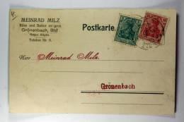 Germany: Württemberg, Bahn-Post Nr 77  9-XII-1919, Stempel Tannheim