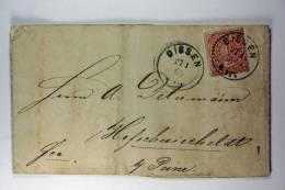 Germany: Norddeutscher Postbezirk , Mi 4 Dissen 1869, Cover