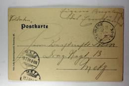 Germany: Elsas/Elzas German Occupation Feldpostkarte Altenberg To Metz, Lotharingen 1904