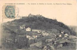ENVIRONS DE JUJURIEUX VUE GENERALE DE CHATILLON DE CORNELLE LES RUINES DU VIEUX CHATEAU 01 AIN - France