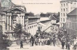 JUJURIEUX SORTIE DES OUVRIERS DES USINES DE SOIERIES METIER INDUSTIRIE 01 AIN - France