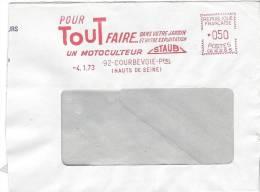 Courbevoie 1973 E.M.A. Pour Tout Faire Un Motoculteur Staub Motoculture Culture Jardin Outil Fragment - Agriculture