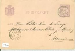 HANDGESCHREVEN BRIEFKAART Uit 1886 Van AMSTERDAM Naar ALKMAAR NVPH Nr. 33 VOORDRUK  (7316) - Postal Stationery