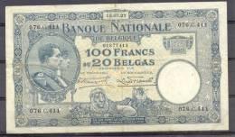 Belg 100 Fr  15 07 1927 VF - [ 2] 1831-... : Belgian Kingdom