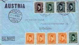 Brief Türkei > Österr.1936 Mit 9 Fach Frankierung, Brief Mit Inhalt - 1934-39 Sandschak Alexandrette & Hatay