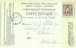 LCE5 - CARTE MODELE UPU MILLAU / ROTTERDAM 19/5/1891 - Entiers Postaux