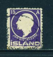 ICELAND - 1911 Jon Sigurdsson 15a Used As Scan - Oblitérés