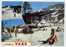 VARS LES CLAUX--L'Hiver à Vars--Vues Diverses(sports,ski,luge,animée) ,cpm N° 840 éd Cellard - Autres Communes