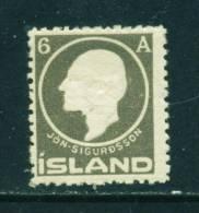 ICELAND - 1911 Jon Sigurdsson 6a Mounted Mint - Neufs