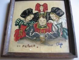 Cadre Bois Ceronit L'eumail En Alsace Signe Elge - Autres Collections