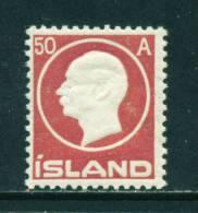 ICELAND - 1912 Frederick VIII 50a Mounted Mint - Neufs