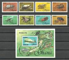 Ghana 1991 - Insects ( Insects From Ghana ) Complete Set With S/S - MNH (**) - Insectes