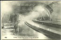 PARIS 5 - La Gare Saint-Michel Envahie Par Les Eaux - Crue De La Seine       -- ELD - Distretto: 05