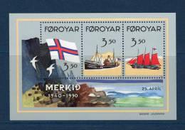 """FEROE 1990 N° YT BF 4 Neuf ** MNH : """" 50 ANS DU DRAPEAU FEROIEN """". Parfait état. - Färöer Inseln"""