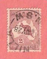 """AUS SC #52  1924 Kangaroo And Map  (""""_NILLA N.S.W / 12 MY 28""""), CV $27.50 - Used Stamps"""