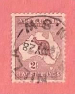 """AUS SC #52  1924 Kangaroo And Map  (""""_NILLA N.S.W / 12 MY 28""""), CV $27.50 - 1913-48 Kangaroos"""