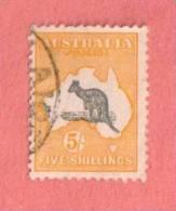 AUS SC #54  1924 Kangaroo And Map - 1913-48 Kangaroos