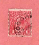 AUS SC #61  1918 King George V  W/sm Light Stn On Backside, CV $19.00 - Usati