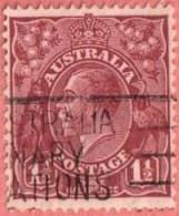 AUS SC #69  1927 King George V  W/1 Short Perf @ L, CV $4.50 - 1913-36 George V: Heads