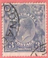 AUS SC #72a  1929 King George V W/nibbed Perf @ TC, CV $22.50 - 1913-36 George V: Heads