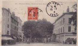CPA De VIENNE  (Isère) - Entrée Du Cours Romestang - 1913 - ANIMATIONS - Vienne
