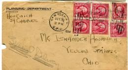 """62260 T - 6 TP Dont Bloc De  4 Ex Provenant De Carnet, Tarif  12 C,  OMEC NEW YORK Oct 1924 """"spécial Delivery"""" TB - ...-1940"""