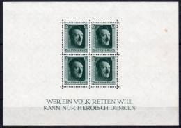 5.4.1937, 48. Anniversaire De Mr. Hitler, YT BF 8, Neuf ** , Gomme Originale, Lot 38412 - Blocks & Kleinbögen