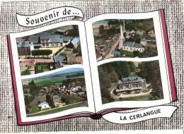 76 LA CERLANGUE Mairie Ecoles Bourg Vue Generale Chateau - France