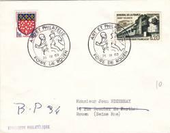 Rouen 1963 - BT Foire Art & Philatélie - Cavalier - Marcophilie (Lettres)