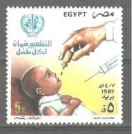 EGYPT – MNH - 1987 - Vaccination Against Polio - Health - Égypte