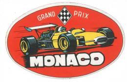 Autocollant Ancien - Grand Prix De Monaco - Autocollants