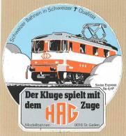 HAG Modellbahnen St. Gallen -  Train Swiss Express Re 4/4 - Stickers