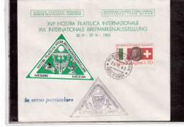 TEM8002-   XVI° MOSTRA FILATELICA INT.LE   /   MERANO  26.9.1963 - Esposizioni Filateliche