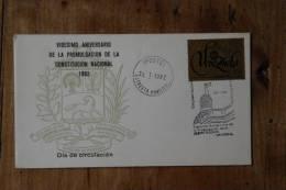 I 5     FDC   1982  VIGESIMO ANIVERS. DE LA CONST. NACIONAL - Venezuela