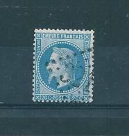 France  N°29 20ct  Bleu  Napoleon III - 1863-1870 Napoleon III With Laurels